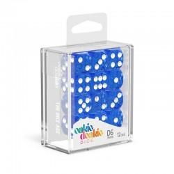Oakie Doakie - 12 Dados D6  Solid Blue