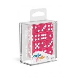 Oakie Doakie - 12 Dados D6 Speckled Pink