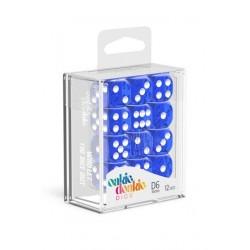 Oakie Doakie - 12 Dados D6 Translucent Blue
