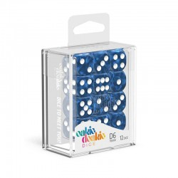 Oakie Doakie - 12 Dados D6 Marble Blue